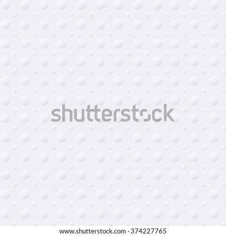 White abstract geometric background texture with circles, seamless - stock vector