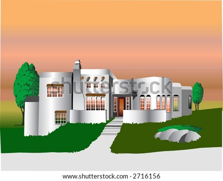 Adobe house stock images royalty free images vectors for Building an adobe house