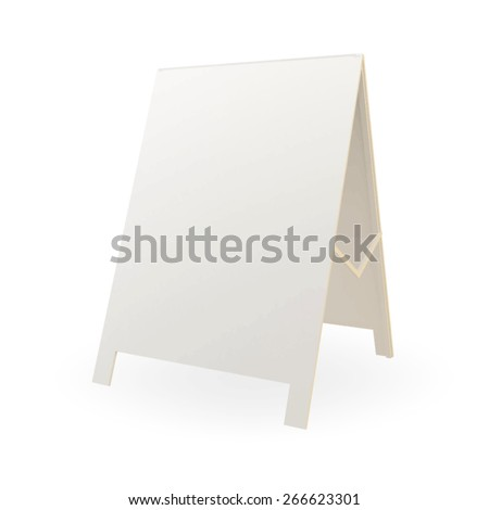 white advertising stand. vector on white background - stock vector