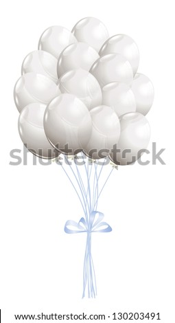 White air balloons isolated on white - stock vector