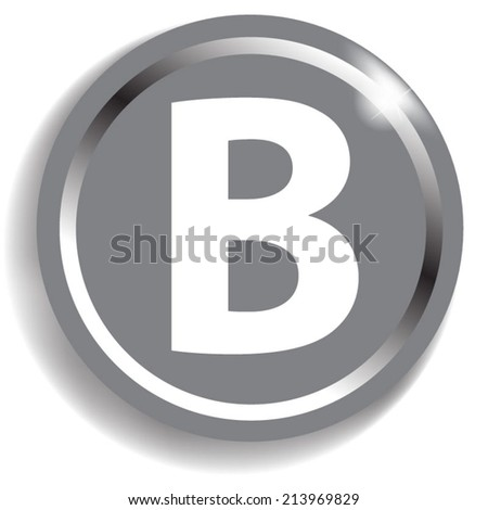 white alphabet on silver background
