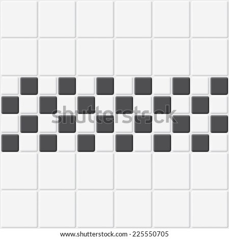 White and black tiles vector texture.