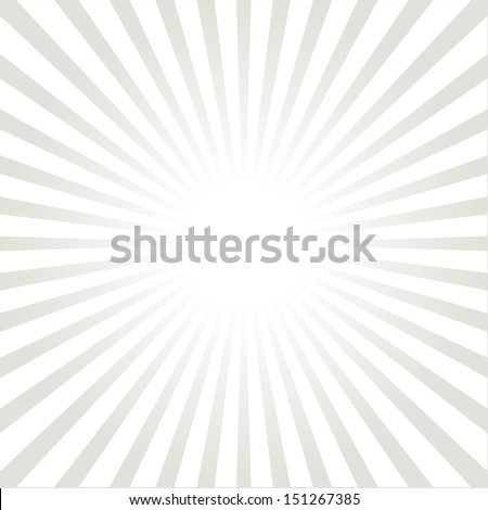 White and gray ray burst style background - stock vector