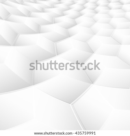 White and gray soft squares, abstract perspective background - stock vector