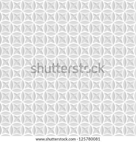 White and grey background, seamless geometrical pattern - stock vector