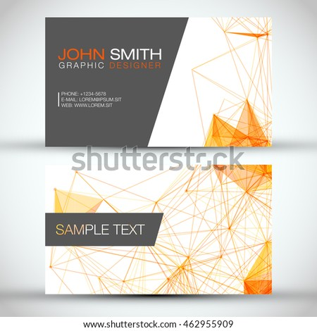 White and Orange Modern Business Card Set | EPS10 Vector Design