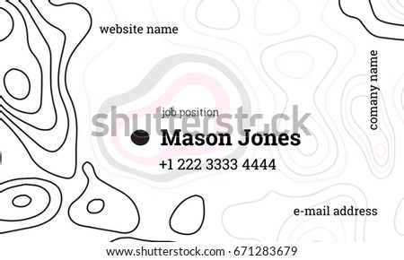 White Blue Business Card Template Nutritionist Stock Vector ...