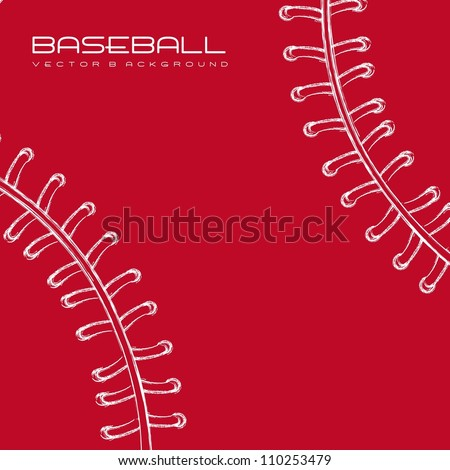white and red baseball background. vector illustration - stock vector