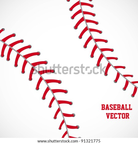 white and red baseball textured background vector illustration - stock vector