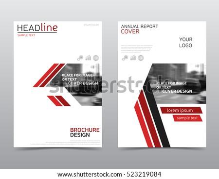 White Red Brochure Design Technology Annual Stock Vector 523219084 ...