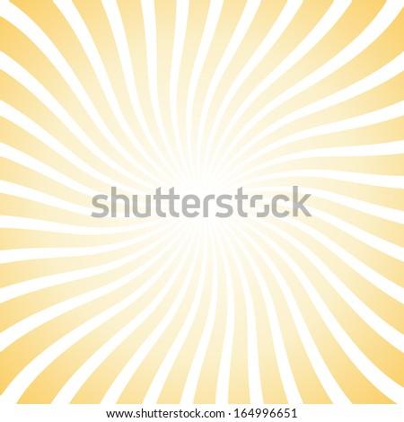 White and yellow starburst - stock vector