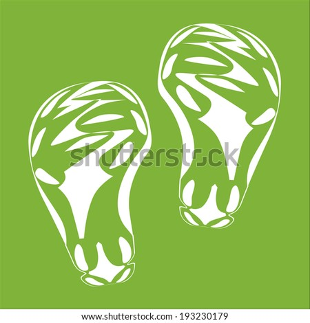 White Baby Imprint soles shoes. Vector Illustration, EPS 10. - stock