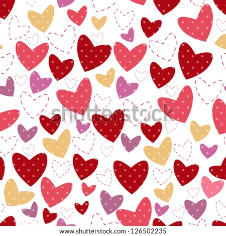 white background for postcard with heart and point - stock vector