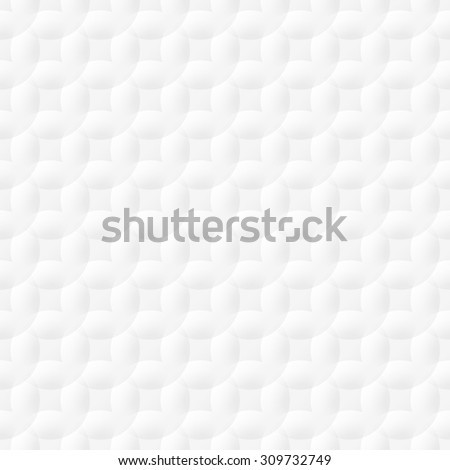 White background seamless pattern with circles. Vector EPS10 - stock vector