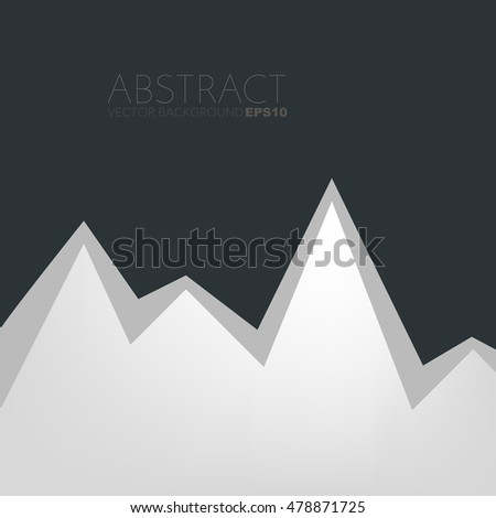White background serrated paper layer with line on black dark space for text and message design