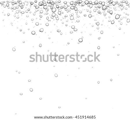 White background with bubbles. Vector water illustration. - stock vector