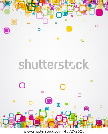 White background with colour geometric pattern. Vector paper illustration.