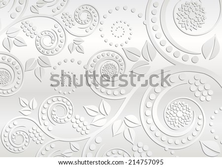 white background with floral ornaments - stock vector