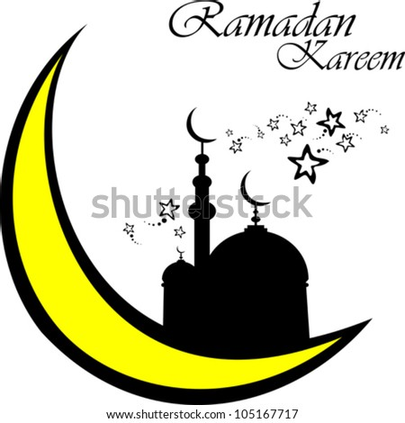 White Background With Isolated Icon For Ramadan Kareem Vector Illustration