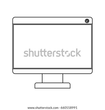 f9a30963b Stock vector white background with monochrome silhouette of monitor vector  illustration jpg 450x470 Imac silhouette