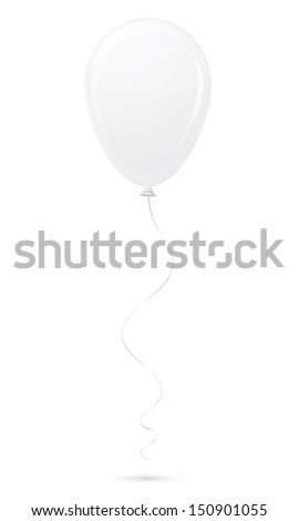 white balloon vector illustration isolated on background