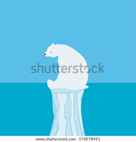 White bear 2 - stock vector