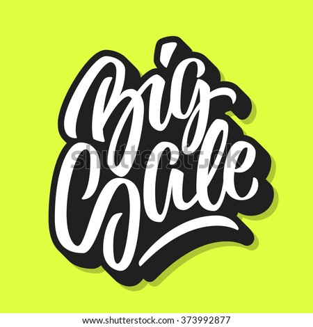 White Big Sale Handmade Lettering Graffiti Style Italic Calligraphy With Outline And 3d Block Blended