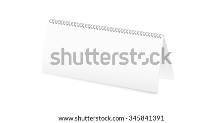 white blank calendar on white background, isolated