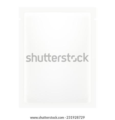White Blank Foil Packaging - stock vector
