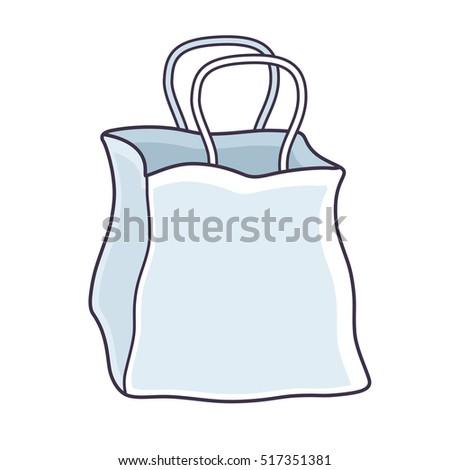white blank paper shopping bag template stock vector 517351381