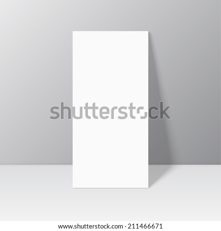 White blank stationary near the wall with shadow. Magazine, book, brochure, flyer, a4 letterhead, folder, leaflet, booklet - stock vector