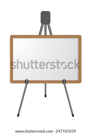 white board on tripod vector illustrations - stock vector