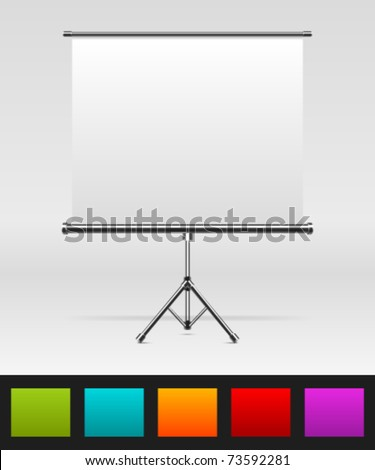 White board with empty space for your message or illustration. Vector illustration Eps 10.