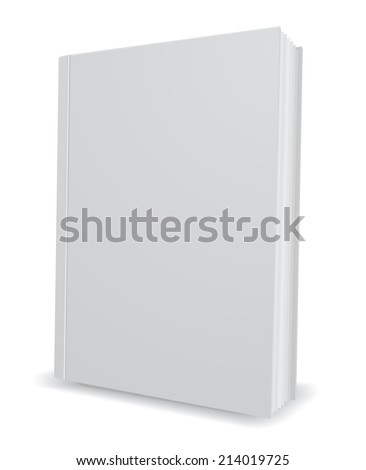 white book 3d icon design element - stock vector
