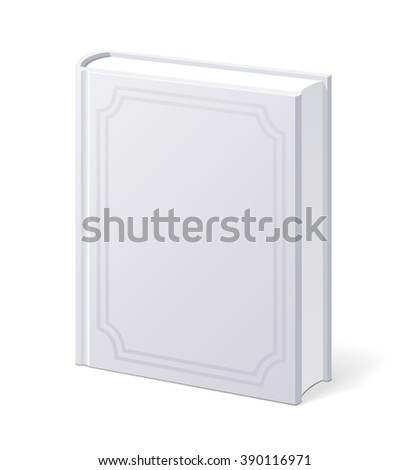 White Book with Blank Cover. Vector Illustration