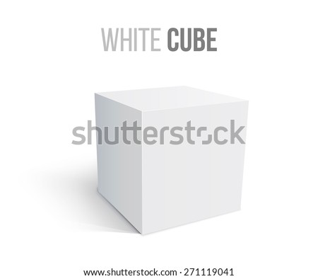 White box isolated on white background. Transportation concept. Vector illustration for your design. - stock vector