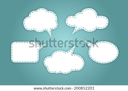 White bubbles for speech - stock vector