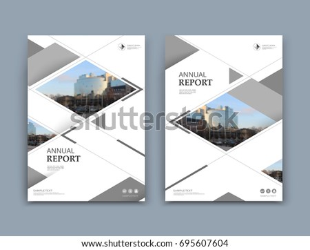 White business card style a4 brochure stock vector 695607604 white business card style a4 brochure cover design info banner board book reheart Gallery