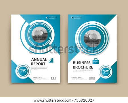 White business card style a 4 brochure stock vector 735920827 white business card style a4 brochure cover design info board book diary reheart Gallery