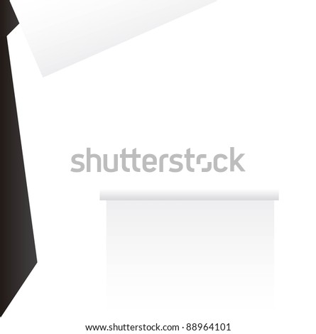 white businessman suit with black tie background. vector