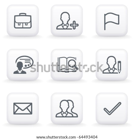 White button for web 1 - stock vector