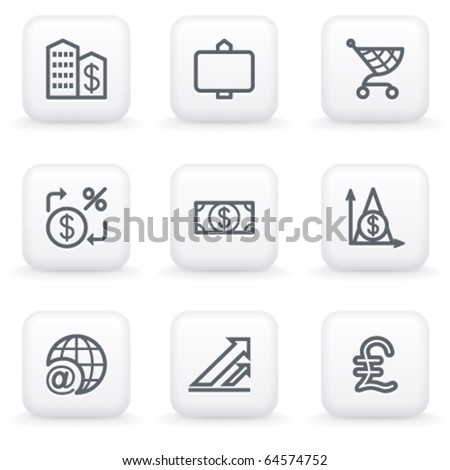 White button for web 23 - stock vector