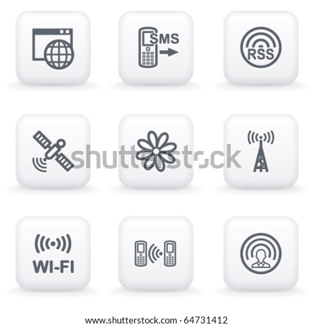 White button for web 30 - stock vector
