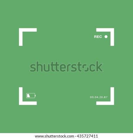 White camera focus frame. Camera viewfinder vector icon - stock vector