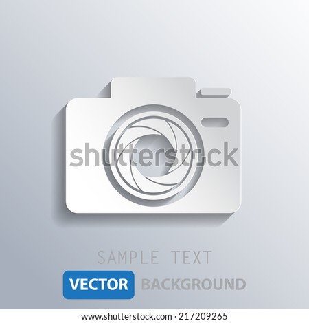 white camera shutter background, vector eps10.
