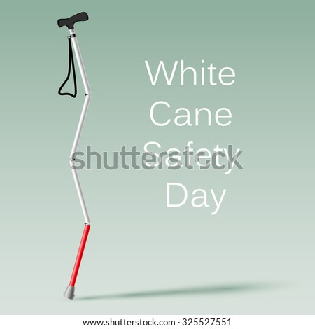 White Cane Safety Day vector illustration - stock vector