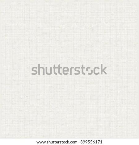 White canvas texture. Linen background. Vector design. - stock vector
