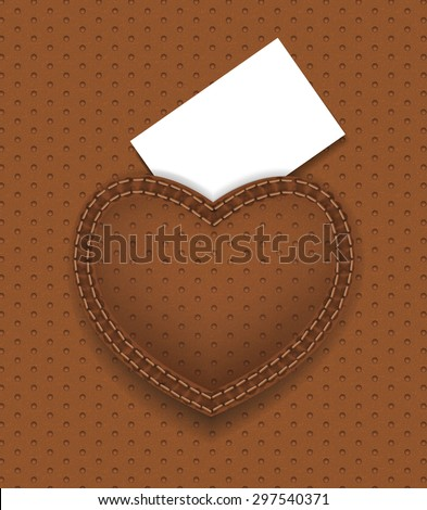 white card on brown  leather back pocket