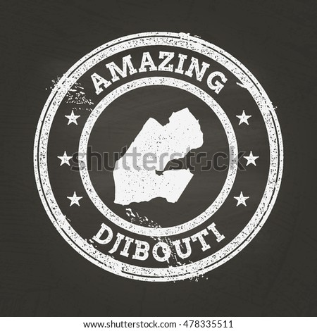 Vintage Djibouti Stamp Continent Name Grunge Stock Vector - Republic of djibouti map