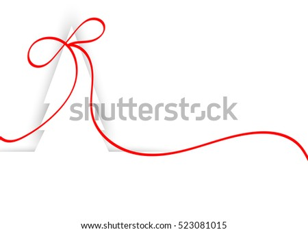 white Christmas  background with red ribbon